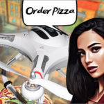 Pizza Drone Delivery (Доставка Пиццы Дроном)