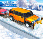 Snow Plow Jeep Driving (Вождение Снегоочистителя)